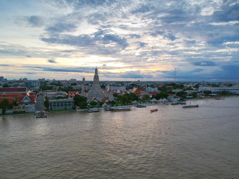 Above Riva Restaurant Review: Best View of Wat Arun Asia Bangkok Blog Food Thailand